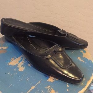 Cole Haan leather black mules - size 8